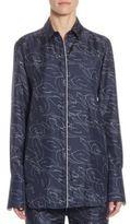 Victoria, Victoria Beckham Silk Tux Cuff Shirt