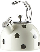 Kate Spade All in Good Taste Deco Dot Whistle While You Work Enameled Steel Tea Kettle