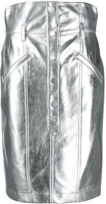 Philosophy di Lorenzo Serafini High-Waisted Metallic Pencil Skirt