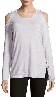 Saks Fifth Avenue Pullover Cold-Shoulder Top