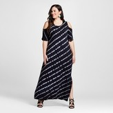 U-knit Women's Plus Size Cold Should Tie Dye Maxi Dress