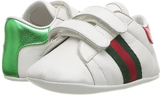 Gucci Kids New Ace Sneakers (Infant/Toddler) (Camelia/Black/Purple) Kid's Shoes