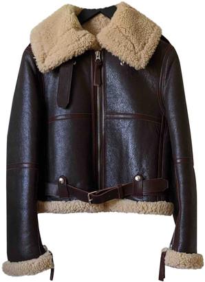 Acne Studios Brown Shearling Jackets
