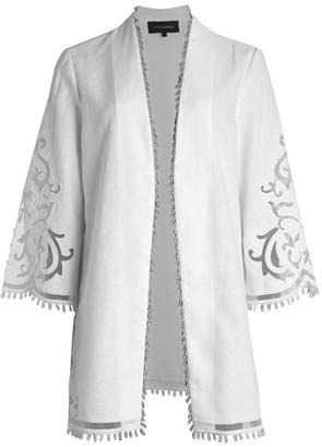 Kobi Halperin Lucille Linen Beaded Jacket