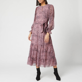 Whistles Women's Wild Cat Tiered Dress