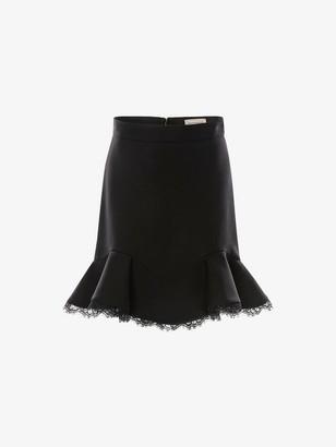 Alexander McQueen Lace Hem Mini Skirt