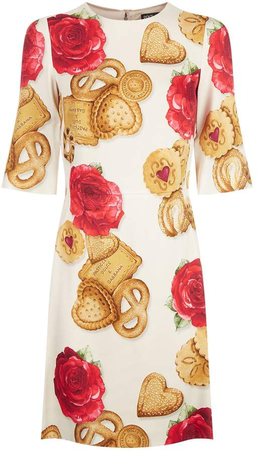 Dolce & Gabbana Cookie Print Dress