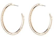 Alexis Bittar Woodland Fantasy Crystal Encrusted Spiked Hoop Earrings
