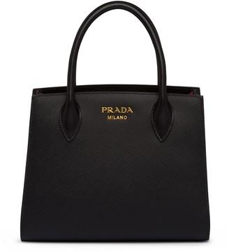 Prada Lettering Logo Saffiano Tote Bag