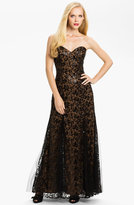 Sean Collection Strapless Lace Gown