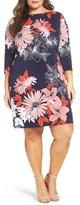 Vince Camuto Plus Size Women's Floral Crepe Shift Dress