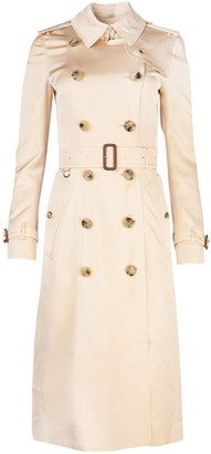 Burberry Double Breasted Belted Trench Coat