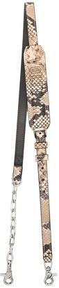 Zadig & Voltaire Snakeskin-Print Leather Strap