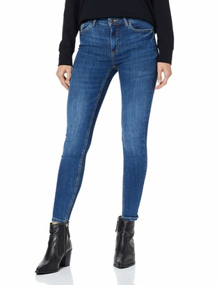 Pieces Women's Pcdelly Skn Mw Cr Mb207-ba/noos Skinny Jeans