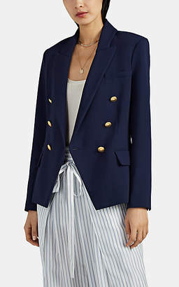 L'Agence Women's Kenzie Cady Double-Breasted Blazer - Navy