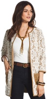 Chico's Faux-Suede Lace Duster