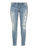 Silver Jeans Plus Size Distressed slim fit jeans