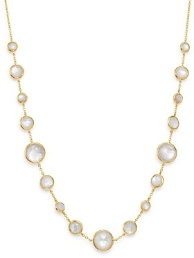 Ippolita 18K Yellow Gold Lollipop Lollitini Mother-of-Pearl Doublet Adjustable Short Necklace, 18
