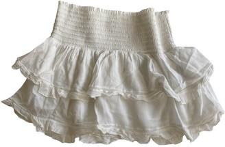 Etoile Isabel Marant White Silk Skirt for Women