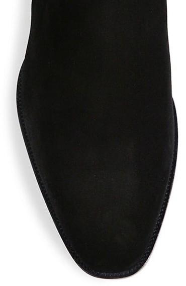 Thumbnail for your product : Saint Laurent Wyatt Suede Chelsea Boots