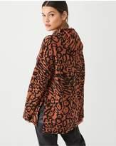 Calvin Klein Printed Drawcord Hoodie - Leopard