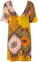 Glamorous **Tile Print T-Shirt Dress