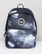 Hype Backpack In Black Space Print