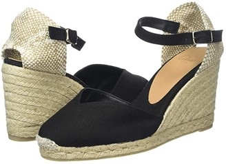 Castaner Chiarita 80mm Wedge Espadrille (Black) Women's Shoes
