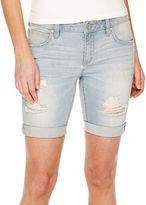 A.N.A a.n.a Cuffed Denim Bermuda Shorts - Petite