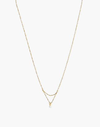 Madewell Delicate Collection Demi-Fine Freshwater Pearl Pendant Necklace