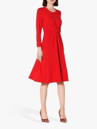 LK Bennett L.K.Bennett Luna Ruched Dress, Red