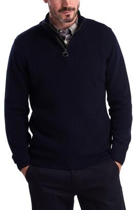 Barbour Holden Wool & Cotton Half-Zip Pullover