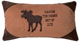 Vanfleet Making the Moose Out of Life Faux Leather Lumbar Pillow Millwood Pines