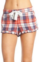 Make + Model Plaid Ruffle Pajama Shorts