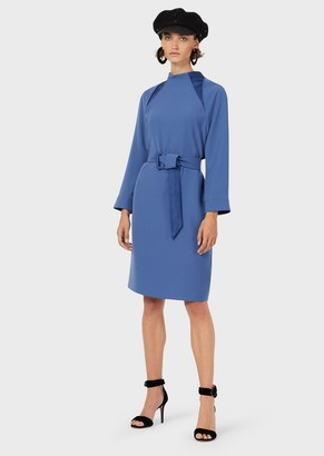 Emporio Armani Tech Cady Dress With Belt