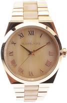 Michael Kors Goldtone Channing Horn Quartz Bracelet Watch