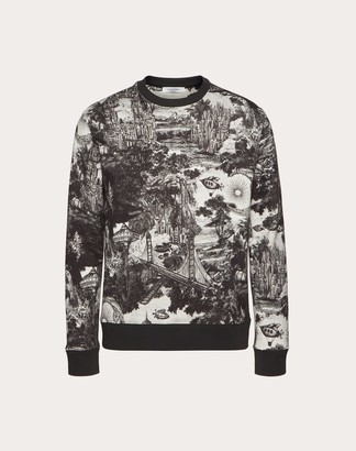Valentino Crew-neck Sweatshirt With Dreamatic Print Man Multicolored Cotton 71%, Polyester 29% M