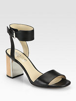 Kors Michael Kors Lexa Leather Block Heel Sandals