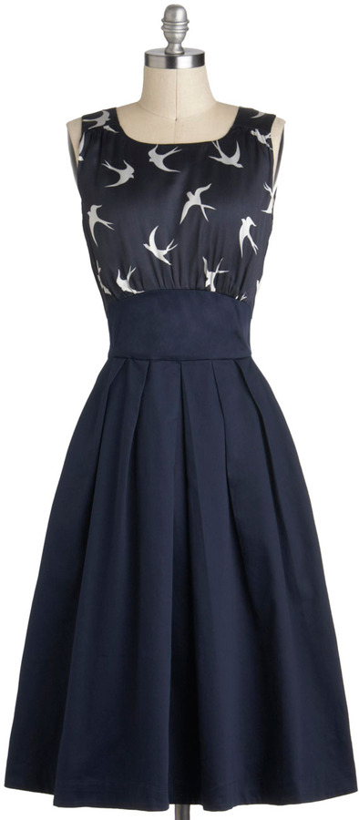 Emily And Fin The Polite Pairing Dress in Birds
