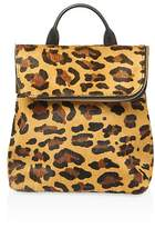 Whistles Verity Leopard Print Mini Calf Hair Backpack
