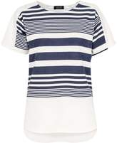 Quiz *Quiz Navy And White Striped Short Sleeve Top