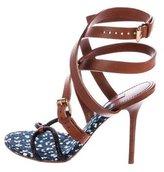 Louis Vuitton Embellished Wrap-Around Sandals