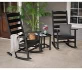 Polywood Shaker Porch Rocking Chair Set Frame Color: Black
