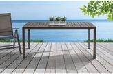 Large Outdoor Aluminum Dining Table in Grey