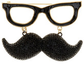 Kate Spade Glasses & Mustache Brooch