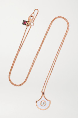 Selim Mouzannar Fish For Love 18-karat Rose Gold, Enamel And Diamond Necklace