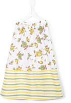 Marni floral striped hem dress - kids - Cotton - 6 yrs