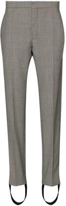 Wardrobe NYC Houndstooth-Print Stirrup Trousers