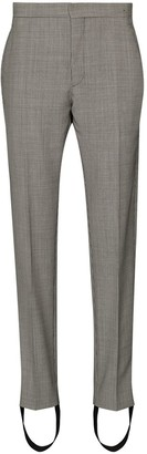 Wardrobe NYC x Browns 50 houndstooth-print stirrup trousers