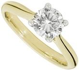Aurora 18ct gold 1.00 carat round diamond solitaire ring